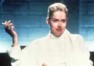 Sharon Stone v erotickém thrilleru Základní instinkt