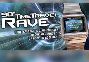 90s Time Travel Rave je party zaměřená na klasickou elektronickou hudbu.