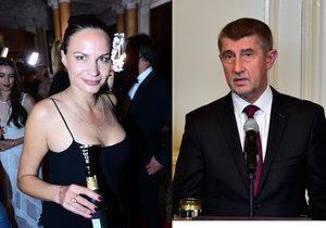Pražská zastupitelka Eliška Kaplicky Fuchsová a šéf hnutí ANO Andrej Babiš