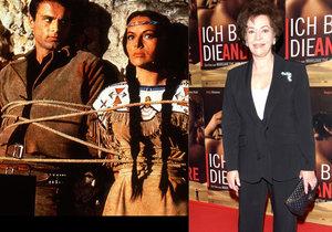 Zemřela filmová indiánka Ribanna! Odešla za Vinnetouem do nebe.