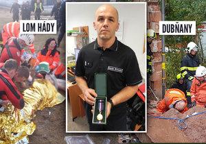 Hasič David Štoudek byl oceněn medailí Za statečnost. V uplynulém roce zasahoval u třech vážných případů a vždy nasadil pro záchranu jiných svůj vlastní život.