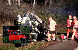 Kamion u Chýště při předjíždění smetl dvě auta: Oba řidiči osobáků zemřeli.