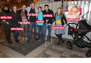 Rozvětvená rodina Petra Rychlého