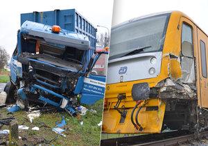 Vlak na Zlínsku smetl popeláře: Řidič kukavozu přehlédl červenou na přejezdu
