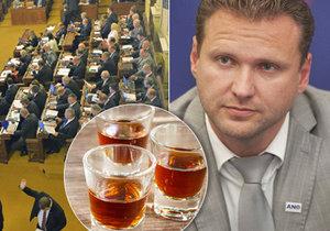 Alkohol má ve Sněmovně zelenou: Zákaz pití při schůzích je zrušený.