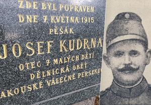 Josef Kudrna a jeho pomník