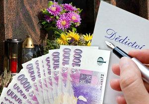 Muž odkázal státu více než milion korun.