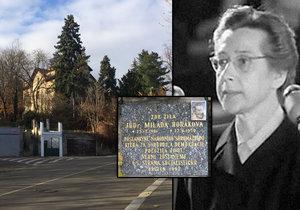 Vila, ve které žila Milada Horáková před zatčením a popravou.