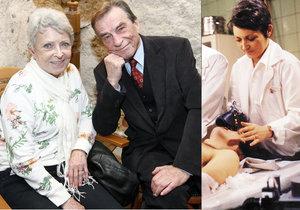 Setkání dvojice z Nemocnice na kraji města: Štěpánkovou a Němce svedl dohromady Alzheimer.