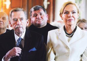 Dagmar Havlová s Václavem Havlem