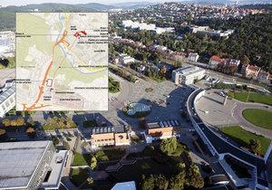 Oficiální vizualizace lanovky z brněnských Pisárek do Bohunic