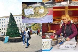 Na Tylově náměstí otevřeli stánkaři vánoční trhy.
