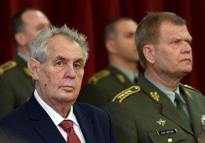 Prezident Miloš Zeman na velitelském shromáždění české armády
