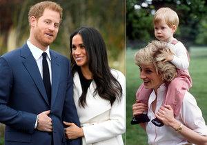 Zásnuby prince Harryho otevřely vzpomínky na Dianu.