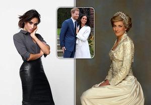 Meghan byla vždycky podle svých přátel posedlá princeznou Dianou.