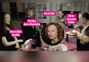 Tajemná fotografie Karla Gotta s dcerou Dominikou na návštěvě u své expartnerky Alice Kovácsové