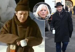 Kulicha vyměnil za klobouk, trochu se zakulatil… Václav Postránecký (74) opět natáčí s Marií Poledňákovou.