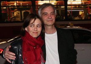 Ivan Trojan s manželkou Klárou Pollertovou-Trojanovou