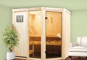 Díky finské sauně Fiona 2 si budete dopřávat klasickou skandinávskou proceduru v horkém vzduchu a páře.