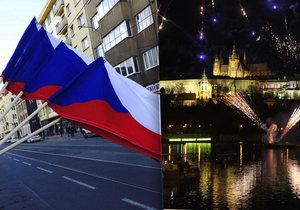 Ohňostroj v Praze (Ilustrační foto)