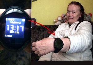 Miroslava (64) z Břeclavi zkolabovala, zachránily ji speciální hodinky: Tlačítko SOS zavolá strážníky