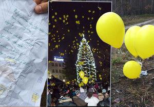 Tomáškův dopis Ježíškovi v Polsku: Balonky letěly ze Sezimova Ústí