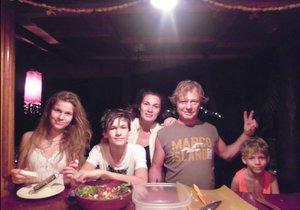 Maroš Kramár se svojí rodinou