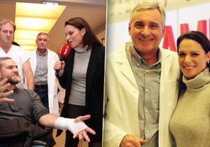 Reportérka Blesku Tereza Kühnelová si zahrála v Ordinaci