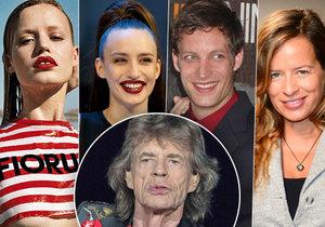 Mick Jagger má celkem osm dětí. Všechny jsou celý on!