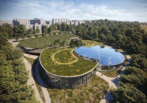 Nový vstup v severní části trojské botanické zahrady navrhl Zdeněk Fránek.