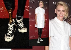 Americká modelka Lauren Wasser přišla o nohu kvůli syndromu toxického šoku.