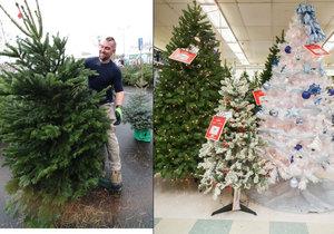 Umělé vánoční stromky mohou poškodit vaše zdraví.