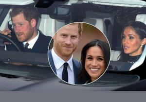 Princ Harry vzal Meghan na vánoční oběd ke královně.