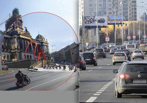 Praha má řešit úpravy pro zklidnění magistrály systémově. Druhá městská část odmítá zahloubení na území Prahy 4 (ilustrační foto).