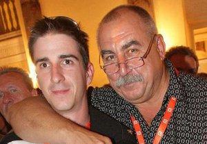 Andy Hryc se synem Hugem