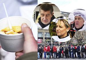 Na Staromáku a Václaváku se rozdalo na tři tisíce porcí rybí polévky