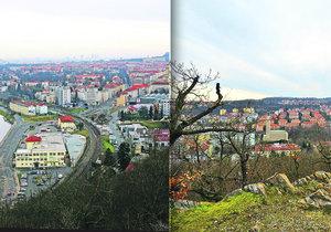 I z těch méně profláknutých míst je na Prahu krásný výhled.