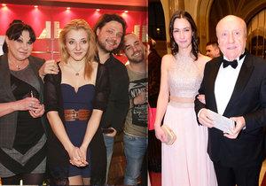 Dáda Patrasová a její rodina byli na Štědrý večer bez Felixe Slováčka.
