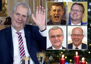 Politici i v roce 2017 perlili. Jaké hlášky pronesli Zeman, Babiš, Kalousek, Bělobrádek či Sobotka?