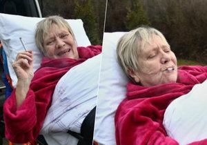 Hvězda Ulice Obermaierová je po svátcích zpět v nemocnici a bez cigaret nedá ani ránu!