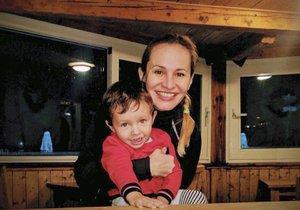 Monika si konec roku užila s rodinou na horách.