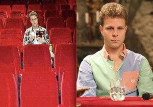 Jan Onder byl sám v kině.