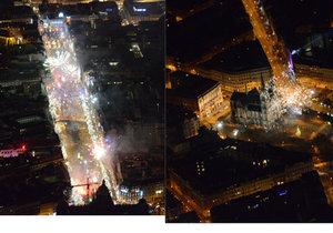 Jak vypadá silvestrovská Praha z ptačí perspektivy?