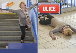 Pád ze schodů v Ulici byl skutečný: Herečka se ošklivě poranila!