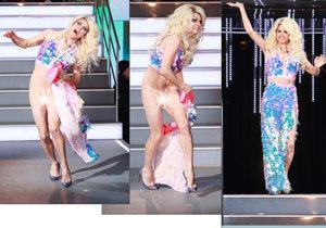 Hvězdička několika australských reality show, popový zpěvák Shane Jenek neboli drag queen Courtney Act, přišel před kamerami televize o šaty.