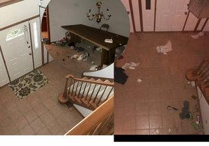 Dav na silvestrovské párty úplně zničil dům pronajatý přes Airbnb.