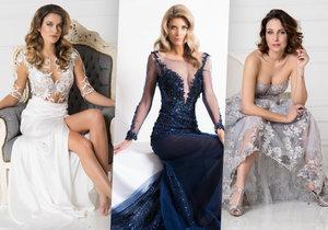 Krásky Andrea Bezděková, Iveta Vítová a Veronika Arichteva vystavily sexy vnady v luxusních šatech.