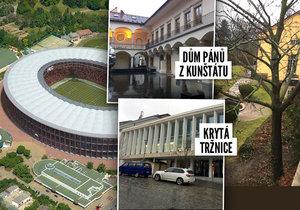 Kvůli stavbě fotbalového stadionu dělá Brno »psí kusy«. Nyní se rozhodlo nabídnout podnikateli, který stavbu blokuje, pět lukrativních staveb v centru města. Mezi nimi je i nově opravená krytá tržnice, nebo historicky cenný Dům pánů z Kunštátu.
