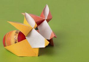 Velikonoční zajíček z papíru: Hravě ho zvládne vyrobit i malé dítě