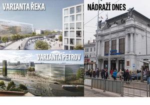 Varianta Řeka, nebo varianta Petrov? Radní Brna podpořili nyní variantu přesunu k řece.